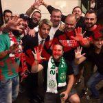 Fanii lui Dinamo au sărbătorit alături de jucătorii lui Sporting