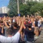 VIDEO: Sute de dinamovisti au mers sa incurajeze echipa